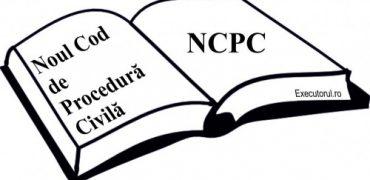 Noul Cod de Procedura Civila